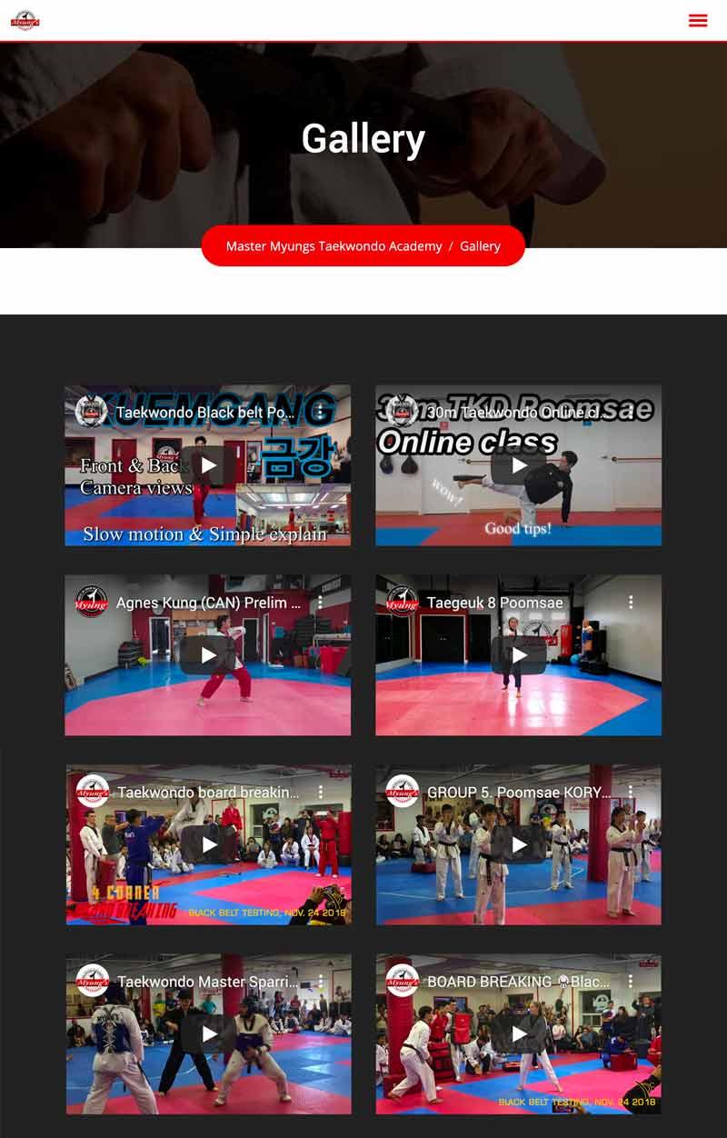 myungs taekwondo gallery