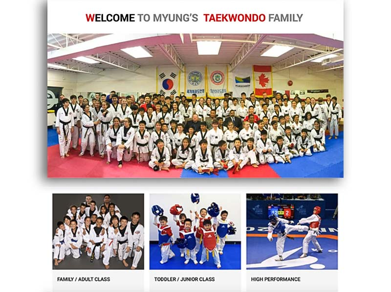 myungs taekwondo family