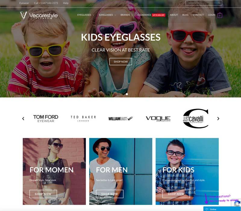 vecarestyle eyeglasses kids