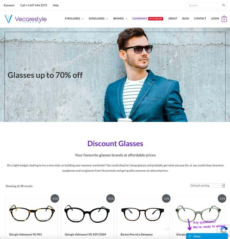 vecarestyle eyeglasses clearance