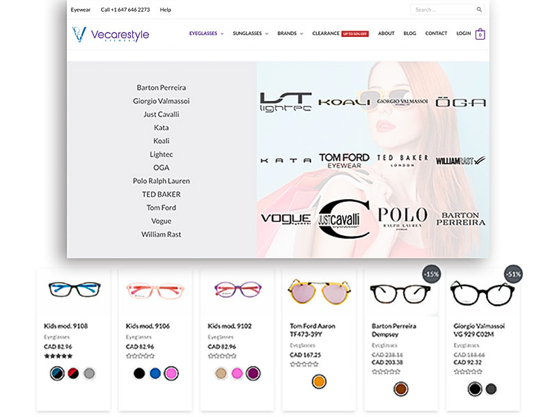 vecarestyle eyeglasses brands